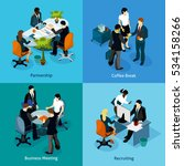 business people isometric icon... | Shutterstock . vector #534158266