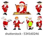 set of santa claus in... | Shutterstock .eps vector #534160246