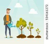 caucasian business investor... | Shutterstock .eps vector #534161272