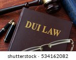 dui law title on a book and...