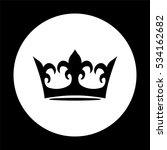 crown    black vector icon | Shutterstock .eps vector #534162682