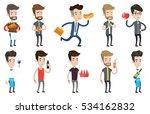 caucasian bartender holding... | Shutterstock .eps vector #534162832