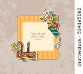 photo frame on vintage... | Shutterstock .eps vector #534165082