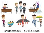 business partners joining hands.... | Shutterstock .eps vector #534167236
