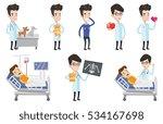 caucasian doctor visiting... | Shutterstock .eps vector #534167698