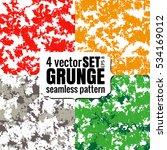 Vector Set 4 Camo Grunge...