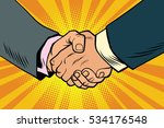 business handshake  partnership ... | Shutterstock . vector #534176548
