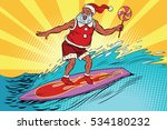 sports santa claus on a... | Shutterstock . vector #534180232