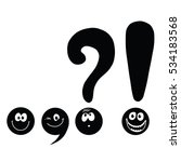 set of funny smiley punctuation | Shutterstock . vector #534183568