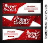 Set Template Design Merry...