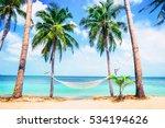 Beautiful Beach.  Hammock...