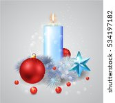 christmas composition with a... | Shutterstock .eps vector #534197182