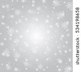 silver winter abstract... | Shutterstock .eps vector #534198658