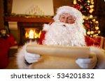 portrait smiling santa claus... | Shutterstock . vector #534201832