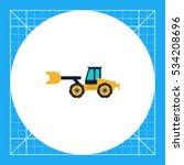 yellow bulldozer icon | Shutterstock .eps vector #534208696