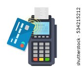 contactless payment purchase... | Shutterstock .eps vector #534215212