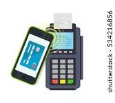 pos terminal confirms the... | Shutterstock .eps vector #534216856
