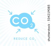 reduce carbon co2 emissions... | Shutterstock .eps vector #534219085