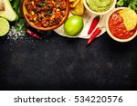 mexican food concept  tortilla... | Shutterstock . vector #534220576