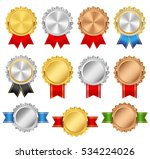 rosettes with red  green  blue  ... | Shutterstock .eps vector #534224026