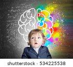 portrait of an adorable little... | Shutterstock . vector #534225538