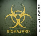 yellow biohazard symbol on a... | Shutterstock .eps vector #534227896