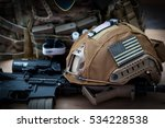 military equipment with a rifle ... | Shutterstock . vector #534228538
