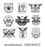 criminal outlaw street club. ... | Shutterstock .eps vector #534230572