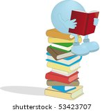 man with the books | Shutterstock .eps vector #53423707