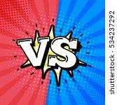 versus letters or vs logo... | Shutterstock .eps vector #534237292