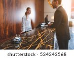 registration desk in modern... | Shutterstock . vector #534243568