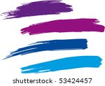 strokes of a paint brush.... | Shutterstock .eps vector #53424457
