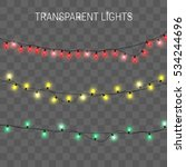 glowing lights for holidays.... | Shutterstock .eps vector #534244696