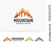 mountain city  architecture ... | Shutterstock .eps vector #534251572