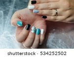 female hand with trendy... | Shutterstock . vector #534252502