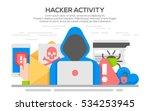 hacker internet computer... | Shutterstock .eps vector #534253945