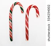 candy cane isolated on white... | Shutterstock . vector #534254002