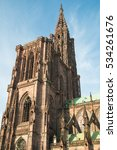Small photo of Cathedrale Notre Dame de Strasbourg in Alsace, France