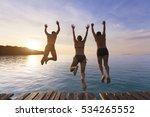 group of happy people having... | Shutterstock . vector #534265552