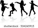 vector silhouette of children...   Shutterstock .eps vector #534265915