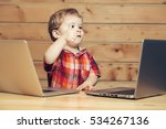 cute baby boy child with blond... | Shutterstock . vector #534267136