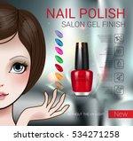 nail polish ads. vector...   Shutterstock .eps vector #534271258