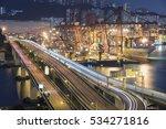 cargo port and highway in hong... | Shutterstock . vector #534271816
