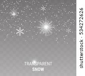 falling snow on a transparent... | Shutterstock .eps vector #534272626