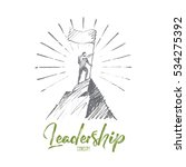 vector hand drawn leadership... | Shutterstock .eps vector #534275392