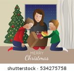 traditional christmas and happy ... | Shutterstock .eps vector #534275758