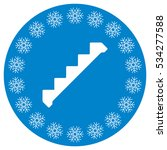 down staircase icon vector flat ...