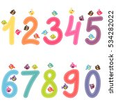 the numbers from zero to nine... | Shutterstock . vector #534282022