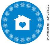 home icon vector flat design... | Shutterstock .eps vector #534285112
