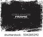 grunge frame. vector template | Shutterstock .eps vector #534285292